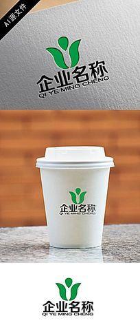 高端环保企业绿色logo创意设计 AI