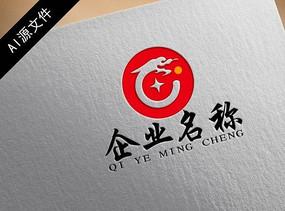 高端中国龙企业logo创意设计图片