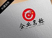 高端中國龍企業logo創意設計