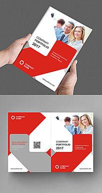 红色商务精致企业画册封面
