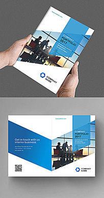 蓝色商务时尚现代企业产品画册封面