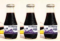 蓝莓汁280ml瓶标设计