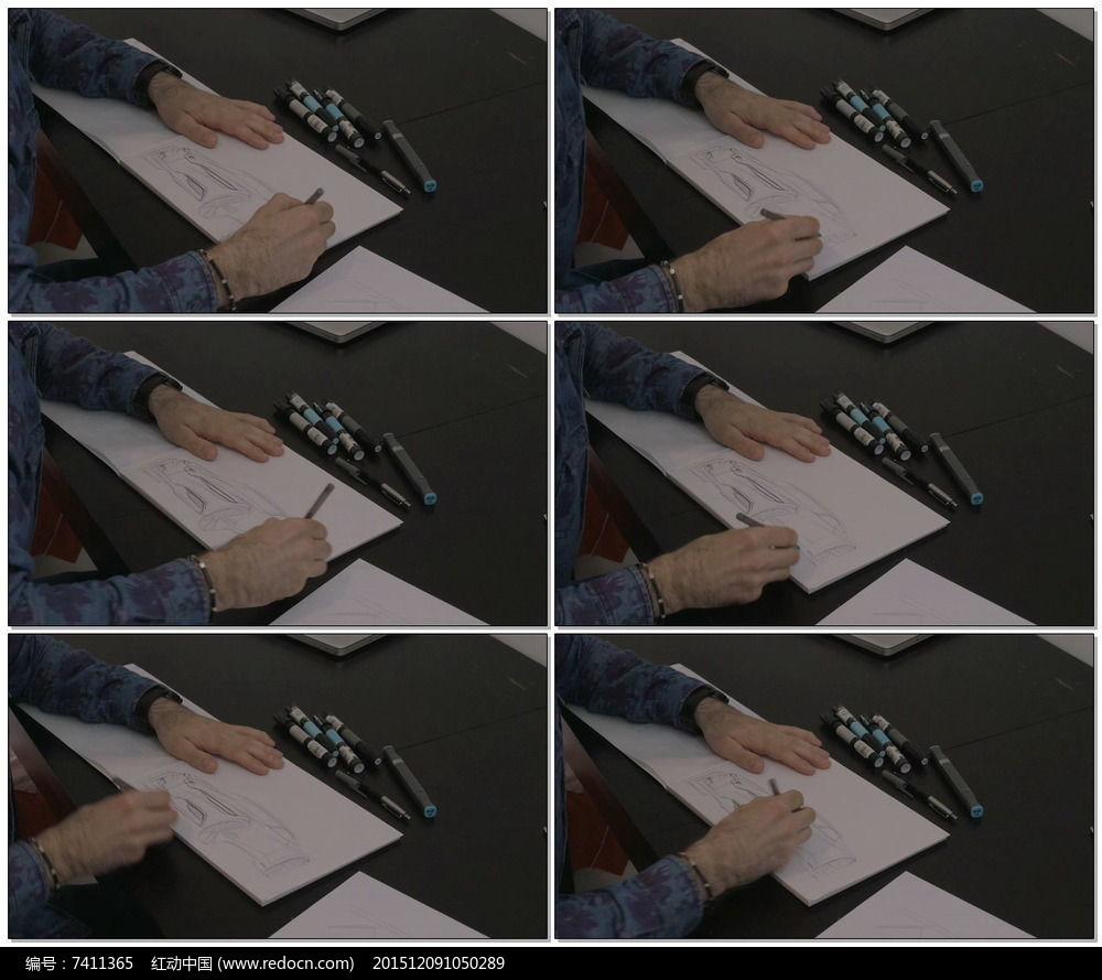 汽车设计师绘制设计草图视频图片图片