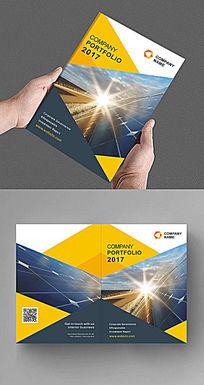 三角元素画册封面