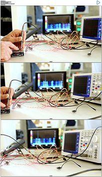 物理实验电子线路测试实拍视频素材