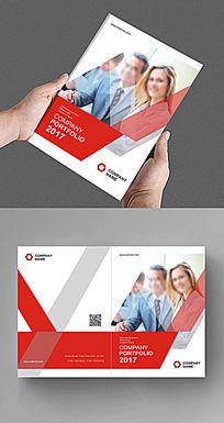 现代红色大气商务画册封面设计