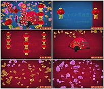 新年新春节日装饰元素视频素材