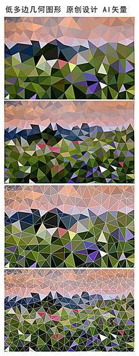 抽象低多边形几何图案