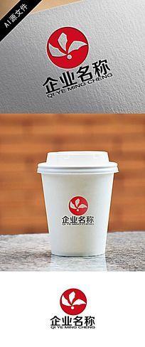 高端企业红色logo创意设计 AI