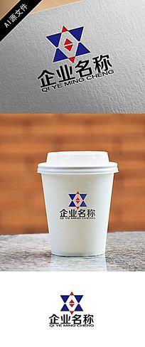 高端企业三角形稳定logo创意设计