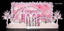婚礼展示甜品区效果图