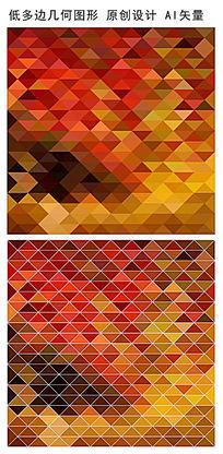 暖色规则正方形底纹图案