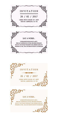 欧式婚礼邀请卡