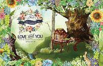 森系婚礼背景设计