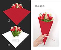 异形鲜花贺卡设计
