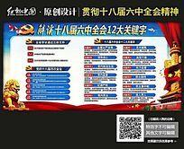 最新贯彻党的十八届六中全会会12组关键字