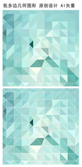 浅色抽象立体几何多边形底纹