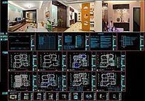 三室两厅简装修CAD全套施工图附实景图
