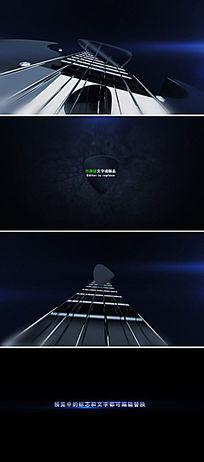 动感摇滚乐器拨子logo标志演绎ae模板