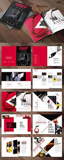 红黑红酒产品画册