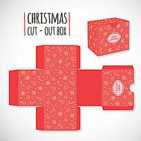 红色圣诞节包装盒