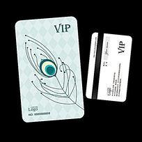 孔雀羽毛名族饰品店VIP会员卡设计