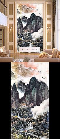 水墨风景画国画客厅玄关