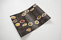 欧式菜单英文复古木纹菜单