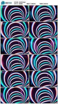 图形炫酷红蓝紫线条交替led视频素材