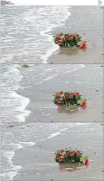 海滩鲜花实拍视频素材 mov