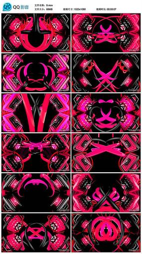 红色圆环万圣节题材舞题材led背景视频
