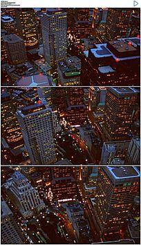 鸟瞰波士顿金融区实拍视频素材
