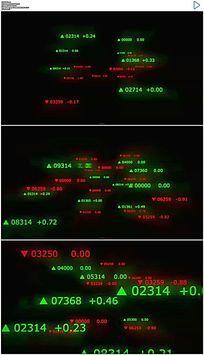 闪烁的股市数据动态视频素材