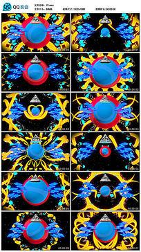 万圣节白色眼睛蓝色闪电图标题材led背景视频