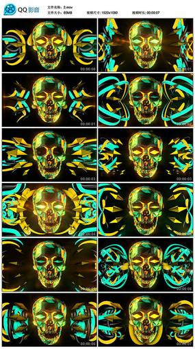 万圣节题材黄色骷髅舞题材led背景视频
