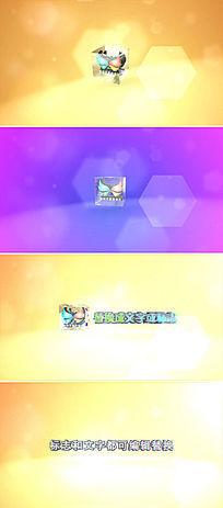 3d立体玻璃质感标志旋转动画片头模板