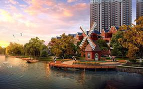 滨水观景平台