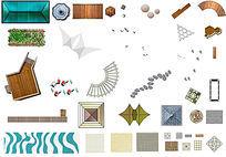 各类景观小品平面PS素材