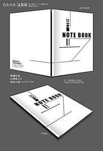 黑色简约笔记本封面设计