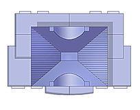 建筑顶平面ps模型