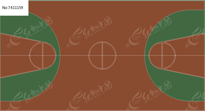 篮球场ps模型