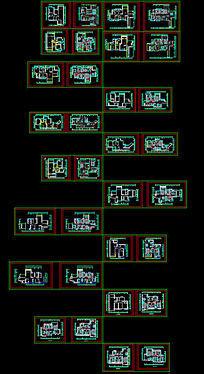 南华时代城户型cad平面布置图