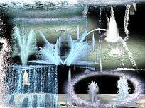 喷泉ps素材PSD