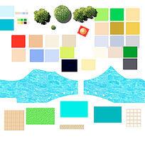 水景材质铺装ps素材