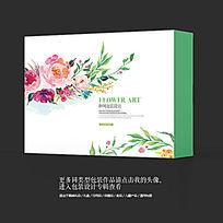 水墨艺术花卉日用品包装设计