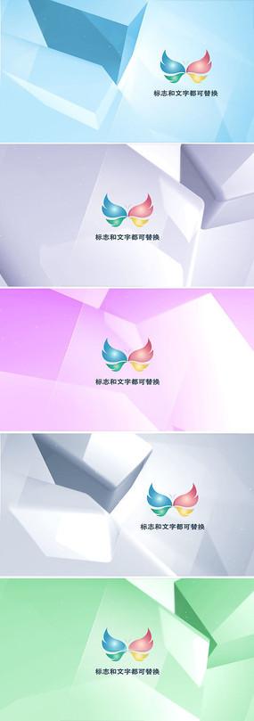 优雅三维透明玻璃感logo演绎ae模