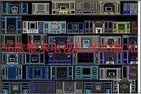 整木电视机背景墙CAD