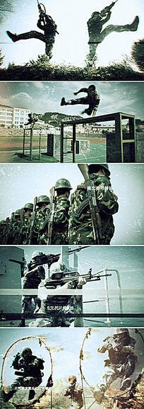 ae中国军队武警宣传片头模板