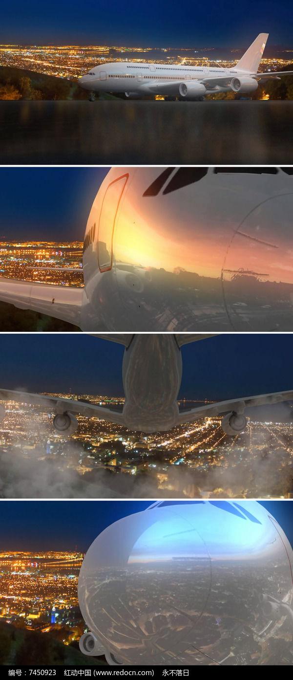 飞机飞行视频素材mp4素材下载_动态|特效|背景视频