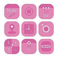 简约大气扁平化粉色APP图标设计